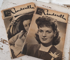 2 x CINDERELLA: JUNI & JULI 1947. Prachtige plaatjes/advertenties!