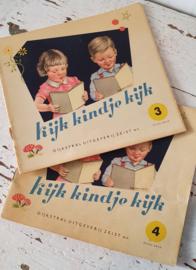Superleuke kijkboekjes uit de jaren 50: KIJK KINDJE KIJK. Deel 3 en 4