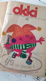 Uit 1971: Jeugdtijdschrift (weekblad) OKKI. 5 maanden ingebonden.