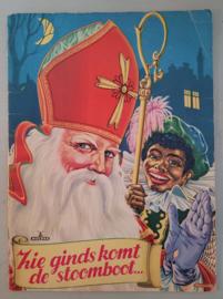 Oud Sinterklaasboek ZIE GINDS KOMT DE STOOMBOOT. ca.1950