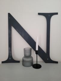 Grote stoere metalen letter N