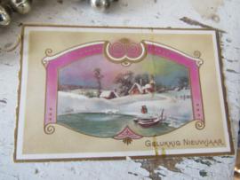 12 stuks prachtige kleine kerstballen in originele doos met dks. + kerstkaartje uit 1957