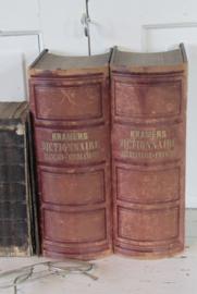 Zeer lijvige, super decoratieve boekwerken! KRAMERS DICTIONAIRE Francais-Neerlandais uit 1875!