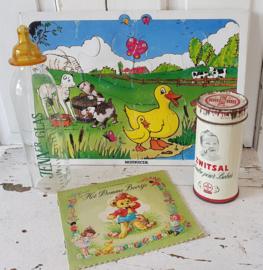 4-delige Set oude babyspullen: o.a. Nutricia en Zwitsal