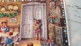 Nostalgische adventskalender 'kerst in de woonkamer'