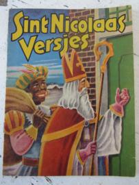 Oud nostalgisch Sinterklaasboekje 'SINT NICOLAAS VERSJES'. - A