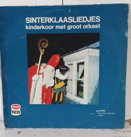 Nostalgische Sintdecoratie! LP SINTERKLAASLIEDJES: kinderkoor met groot orkest. ca. 1970