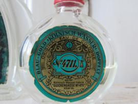 Setje van 3 oude flesjes 4711 - Eau de Cologne.