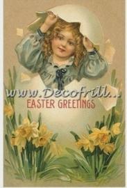 Paaskaart - Easter postcard 1