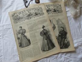 set van 2 st. LA MODE ILLUSTRÉE, Journal de la Famille. 27 April en 5 Mei 1895 - H