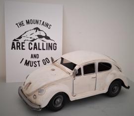 Stoere VW kever - Beetle. Model van Metaal