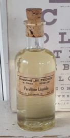 Oud/antiek flesje PARAFFINE LIQUIDA: Drogisterij 'De Zwijger' te Utrecht