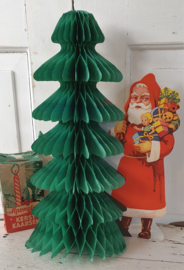 Oude KERSTMAN met uitvouwbare kerstboom