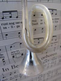 Oude/antieke kerstbal: Hoorn - trompet.