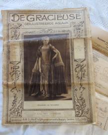 5x DE GRACIEUSE, Geillustreerde Aglaja uit The Roaring Twenties!