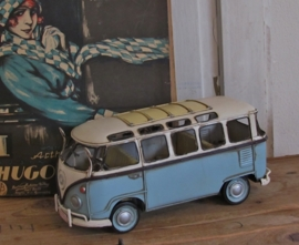 T1 VW bus BlUE. Model. Metaal.