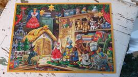 Nostalgische Adventskalender: kerstfiguren/oud speelgoed/herders/Engel