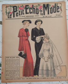 Uit 1936! tijdschrift Le Petit ECHO de la MODE. Met o.a. communiejurkjes