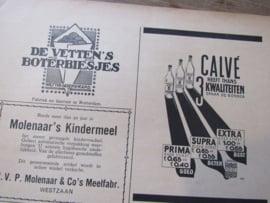 ONS EIGEN TIJDSCHRIJFT: Van Houten Cacao, uit 1932. Met prachtige oude advertenties