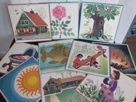 Oude wandplaten 1979: Oude Wandplaten - Schoolplaten BOOM - ROOS - VIS etc. Zwijsen, Tilburg