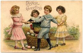 Paaskaart - Easter postcard 80