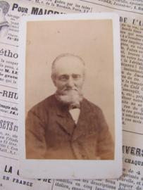 Lieve oude Heer met sikje ... CDV - Carte de Visite. Ca. 1900