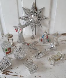 Prachtige 12-dlg. set oude/vintage kerstfiguren FILIGRAAN. 1960-1980