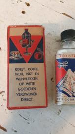 In OVP: ROKOFRIN.  Roest, koffie,fruit, inkt en wijnvlekken op witte goederen verdwijnen direct