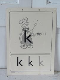 Oude Schoolplaat - Klasseplaat de K van KOK,   Meulenhoff 1989/1990