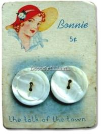 Nostalgische Poster A4 - Bonnie buttons