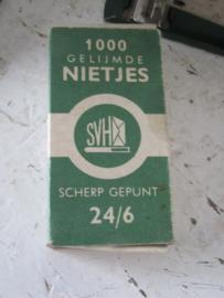 6-delige set Oude, nostalgische  bureau/kantoorspullen met Stenoblok, Gimborn etc.