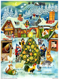 Prachtige GROTE Adventskalender: KERST op de BOERDERIJ!