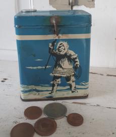Antiek Missiebusje: Voor de Oblaten Missie bij de Eskimo's. Ca. 1920