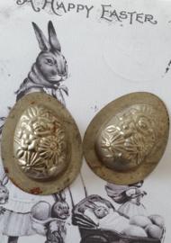 Oude dubbele chocolademal. F. CLUYDTS, Antwerpen. Bloemen - R