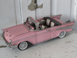 Superleuk! CHEVROLET BEL AIR 1957. Pink! Model metaal.