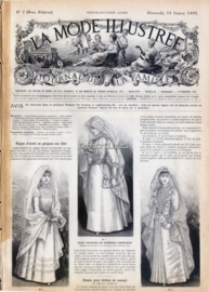 Nostalgische poster A4 - La mode Illustree 1891