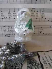 Oude/antieke kerstbal: Kerstman op knijper - clip