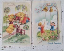 Set van 2 mooie oude Paaskaarten
