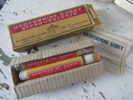 Antieke verpakking URIFORMINE GOBEY EFFERVESCENTE. Laboratoires Roussel