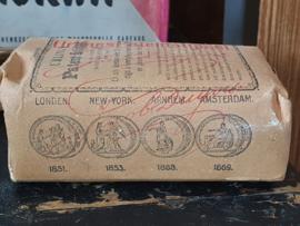 Zeldzaam! Antieke verpakking URLING's Patentstijfsel. Voor Batist, Gaas, Neteldoek etc. ca. 1890