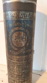Antiek VERKADE blik - beschuitbus: VERKADE's ZAANSCHE BESCHUIT van rond 1900