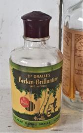 Prachtig oud/antiek flesje Dr. DRALLE's Berken-Brillantine