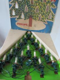 Oude kerstboomverlichting in hele grote decoratieve doos! PHILIPS. 16 kaars