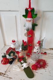 Lot van 11 st. Vintage/retro kerstdecoratie