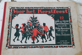 uit 1938: Antiek kerstboek: Voor het Kerstfeest. Met prachtige illustraties van Daan Hoeksema!