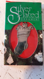 Vintage Kerstornament Silver Plated. in OVP