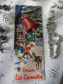 Oude verpakking ORION EIS-LAMETTA.  Zilver. Prachtige afbeelding!