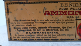 Zeldzaam Antiek blik AMMONIAK-ZEEP: Stoom-Zeepfabriek HET KLAVERBLAD.  1920-1939.