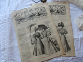 set van 2 st. LA MODE ILLUSTRÉE, Journal de la Famille. 9 en 16 Juni 1895 - K