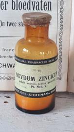 Oud/antiek Apothekerspotje OXYDUM. v/h Brocades - Stheeman &Pharmacia